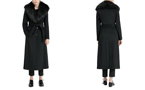 Calvin Klein Faux Fur Trim Wrap Coat - Bloomingdale's_2