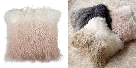 "Michael Aram Dip Dye Curly Sheepskin Pillow, 18"" x 18"" - Bloomingdale's_2"
