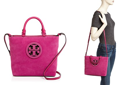 Tory Burch Charlie Small Suede Tote - Bloomingdale's_2