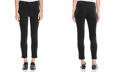 rag & bone/JEAN Skinny Ankle Jeans in Black Velvet - Bloomingdale's_2