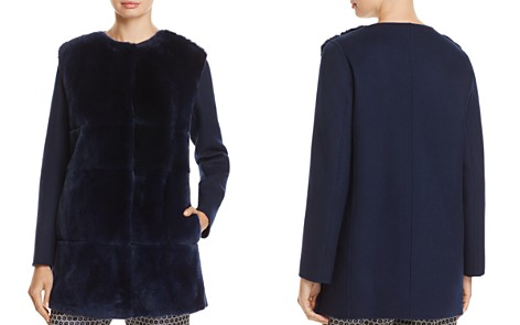 Weekend Max Mara Aire Doppio Rabbit Fur-Front Coat - Bloomingdale's_2
