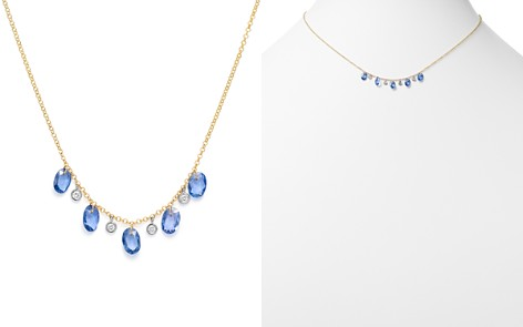 """Meira T 14K White & Yellow Gold Sapphire & Diamond Dangle Necklace, 18"""" - Bloomingdale's_2"""