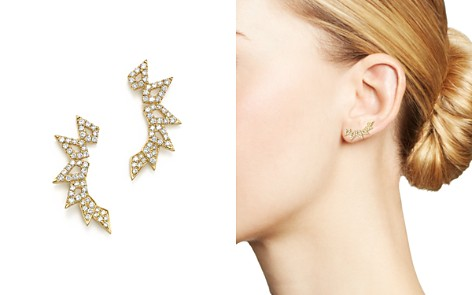 Bloomingdale's Diamond Geometric Ear Climbers in 14K Yellow Gold, .45 ct. t.w. - 100% Exclusive _2