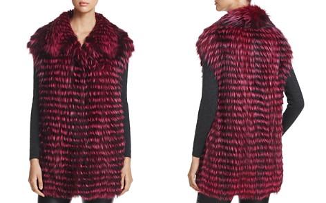 Maximilian Furs x Michael Kors Feathered Nafa Fox Fur Vest - Bloomingdale's_2