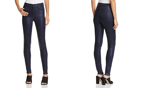 J Brand Maria High-Rise Coated Skinny Jeans - Bloomingdale's_2