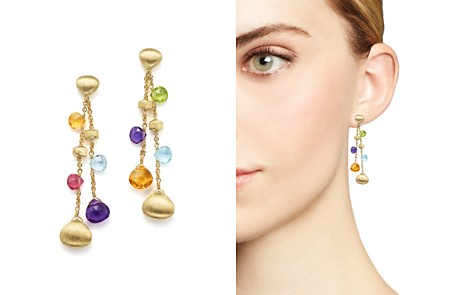 Marco Bicego 18K Yellow Gold Paradise Gemstone Teardrop Double Strand Earrings - Bloomingdale's_2