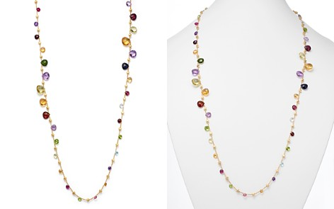 """Marco Bicego 18K Yellow Gold Paradise Double Wave Mixed Gemstone Necklace, 34"""" - Bloomingdale's_2"""