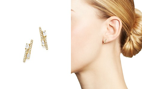 KC Designs 14K Yellow Gold Diamond Mosaic Double Row Stud Earrings - Bloomingdale's_2