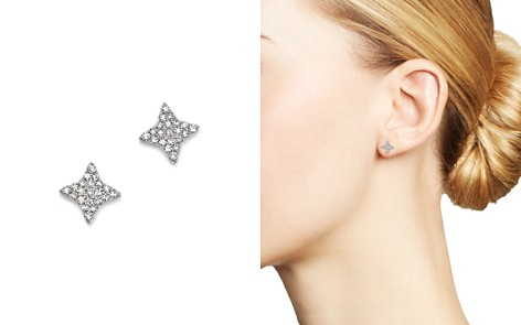 KC Designs 14K White Gold Small Starburst Diamond Stud Earrings - Bloomingdale's_2
