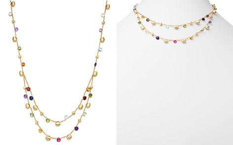 Marco Bicego 18K Yellow Gold Paradise Teardrop Two Strand Gemstone Necklace - Bloomingdale's_2