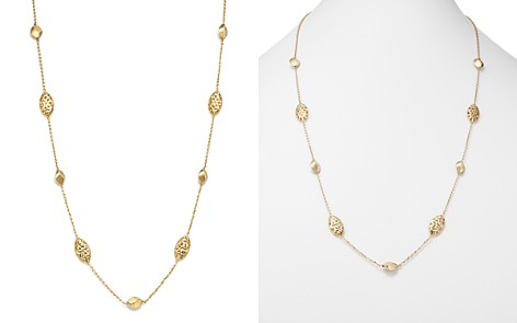 Bloomingdale's Pepita Beaded Necklace in 14K White & Yellow Gold - 100% Exclusive _2