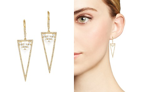 KC Designs 14K Yellow Gold Mosaic Diamond Statement Earrings - Bloomingdale's_2