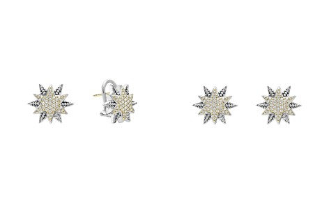 LAGOS 18K Gold & Sterling Silver North Star Diamond Small Stud Earrings - Bloomingdale's_2