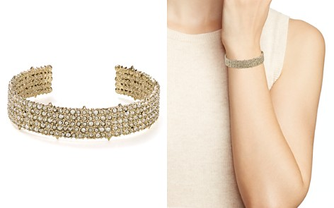 Alexis Bittar 10K Gold & Rhodium Crystal Pavé Accent Cuff - Bloomingdale's_2