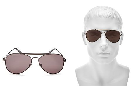Calvin Klein Aviator Sunglasses, 58mm - Bloomingdale's_2