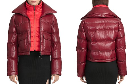 BAGATELLE.CITY Quilted Leather Puffer Coat with Bib Warmer - Bloomingdale's_2