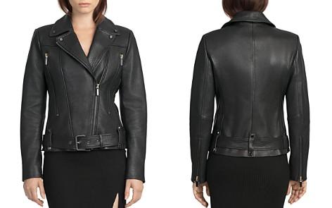BAGATELLE.CITY Belted Leather Moto Jacket - Bloomingdale's_2