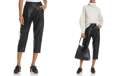 Molly Bracken Faux Leather Track Pants - Bloomingdale's_2
