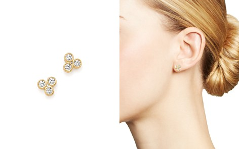 Bloomingdale's Diamond Three Stone Bezel Stud Earrings in 14K Yellow Gold, .50 ct. t.w._2