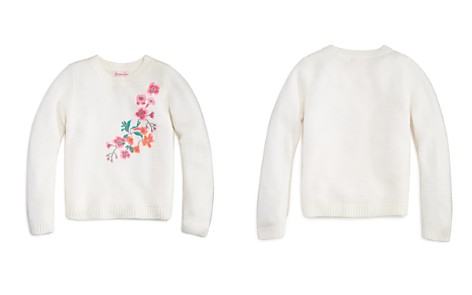 Design History Girls' Floral-Embroidered Sweater - Little Kid - Bloomingdale's_2