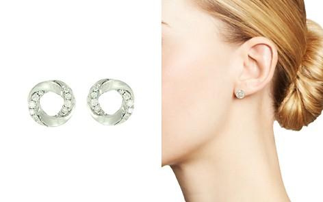 Frederic Sage 18K White Gold Mini Halo Diamond Stud Earrings - Bloomingdale's_2