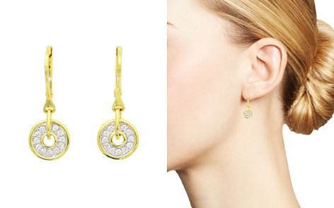 Frederic Sage Diamond Firenze Spinning Disc Drop Earrings in 18K White & Yellow Gold - Bloomingdale's_2