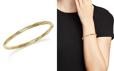 Bloomingdale's 14K Yellow Gold Polished Twist Bracelet - 100% Exclusive_2