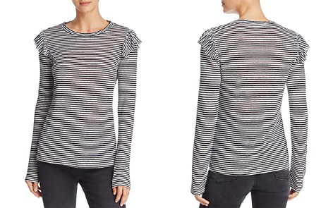 FRAME Ruffled & Striped Top - 100% Exclusive - Bloomingdale's_2