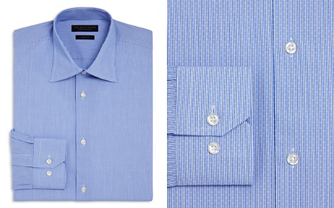 The Men's Store at Bloomingdale's Dobby Stripe Slim Fit Dress Shirt - 100% Exclusive_2