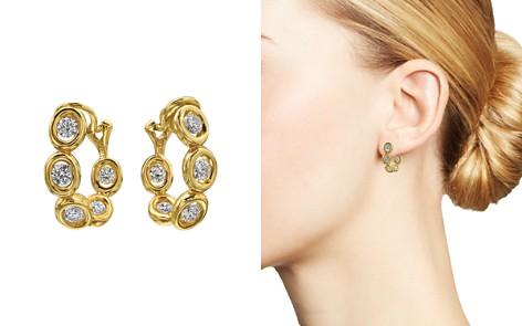 Gumuchian 18K Yellow Gold Diamond Small Oasis Curve Earrings - Bloomingdale's_2