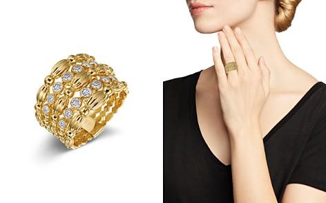 Gumuchian 18K Yellow Gold Diamond Five Row Tapered Nutmeg Ring - Bloomingdale's_2