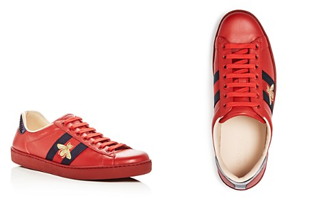 Gucci Men's New Ace Leather Lace Up Sneakers - Bloomingdale's_2