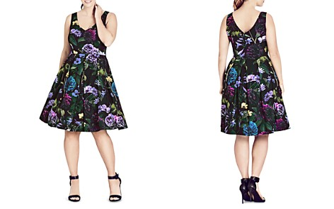 City Chic Perfect Floral Dress - Bloomingdale's_2