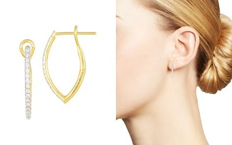 Frederic Sage 18K Yellow Gold Diamond Marquise Small Hoop Earrings - Bloomingdale's_2