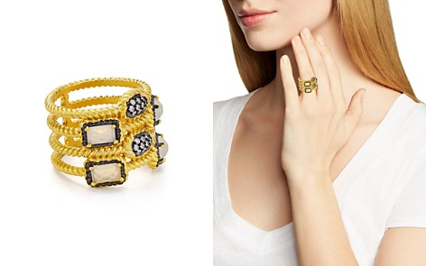 Freida Rothman Gilded Stone Cage Ring - Bloomingdale's_2