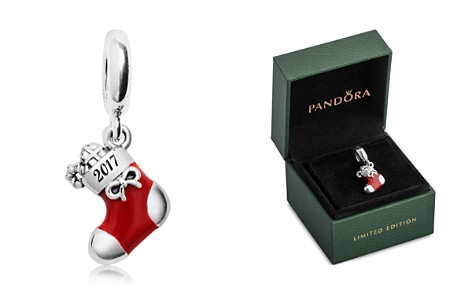 PANDORA Limited Edition 2017 Sterling Silver, Enamel & Cubic Zirconia Engraved Christmas Stocking Charm Gift Set - Bloomingdale's_2
