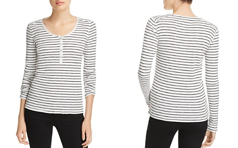 rag & bone/JEAN Lilies Striped Henley Top - Bloomingdale's_2