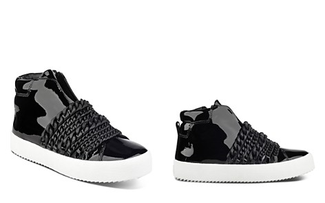 KENDALL and KYLIE Women's Duke Patent Leather & Chain Trim Zip Sneakers - Bloomingdale's_2