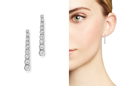 Bloomingdale's Diamond Linear Drop Earrings in 14K White Gold, 1.0 ct. t.w. - 100% Exclusive _2