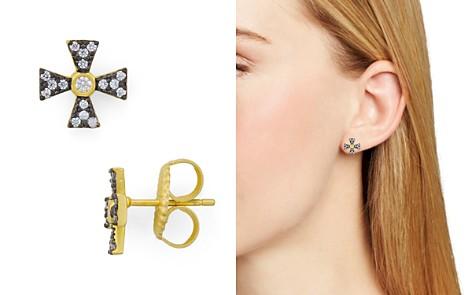 Freida Rothman Thin Cross Stud Earrings - Bloomingdale's_2