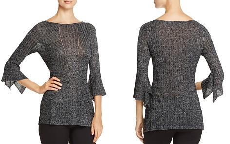 Heather B Ribbed Metallic Bell Sleeve Sweater - 100% Exclusive - Bloomingdale's_2