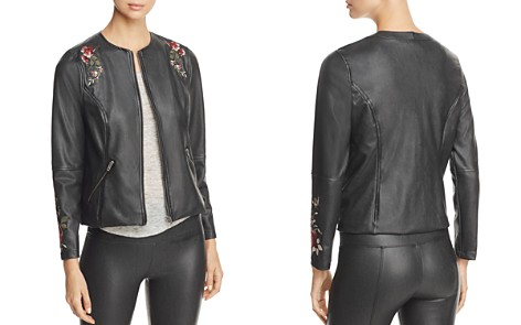 Lysseé Embroidered Faux Leather Jacket - Bloomingdale's_2