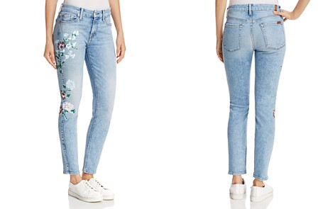 7 For All Mankind The Ankle Skinny in Radiant Wythe W Floral - Bloomingdale's_2