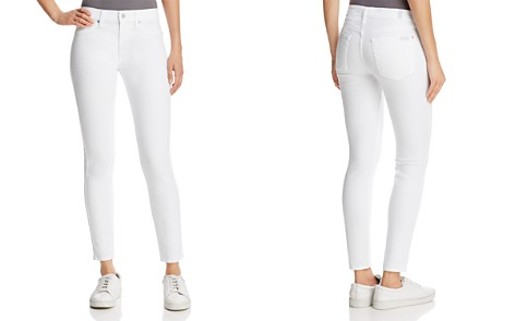 7 For All Mankind The Ankle Skinny Jeans in Clean White - Bloomingdale's_2
