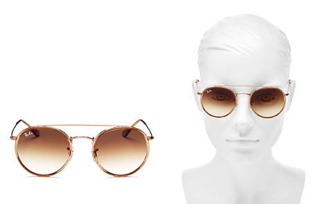 Ray-Ban Unisex Brow Bar Round Sunglasses, 51mm - Bloomingdale's_2