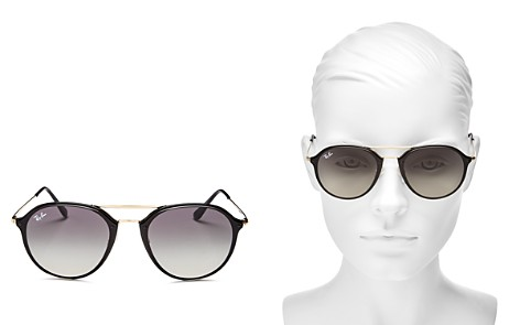 Ray-Ban Brow Bar Rimless Round Sunglasses, 62mm - Bloomingdale's_2
