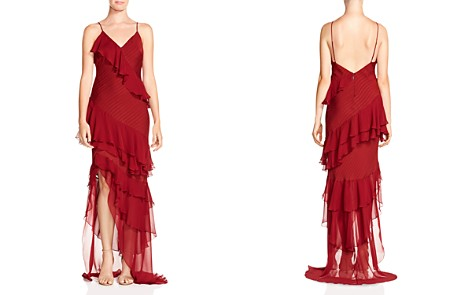 Haute Hippie Passing The Time Ruffled Silk Gown - Bloomingdale's_2