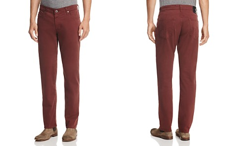 AG The Graduate Slim Straight Fit Pants in Deep Mahogany - Bloomingdale's_2