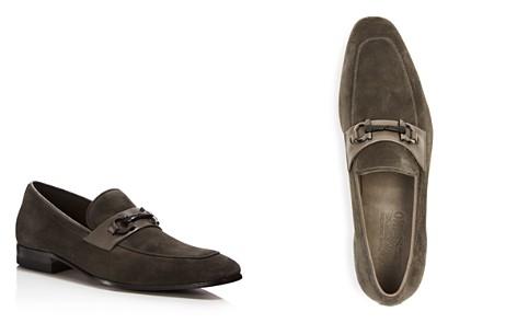 Salvatore Ferragamo Men's Cremona Gancini Suede Loafers - Bloomingdale's_2