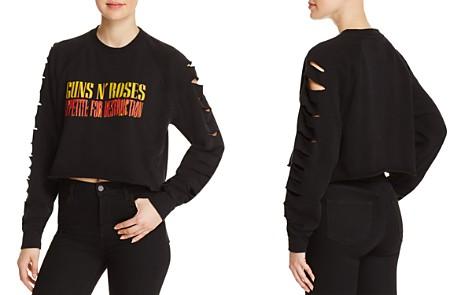 Bravado Guns N' Roses Cutout-Sleeve Cropped Sweatshirt - 100% Exclusive - Bloomingdale's_2